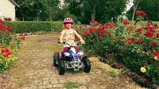 Kids Riding a Four Wheeler and Having Fun (family fun for kids)