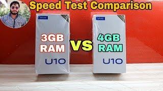 Vivo U10 3GB (RAM) vs Vivo U10 4GB (RAM)Speed Test Comparison?