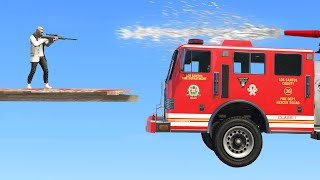 FIRETRUCKS VS SNIPERS! (GTA 5 Funny Moments)