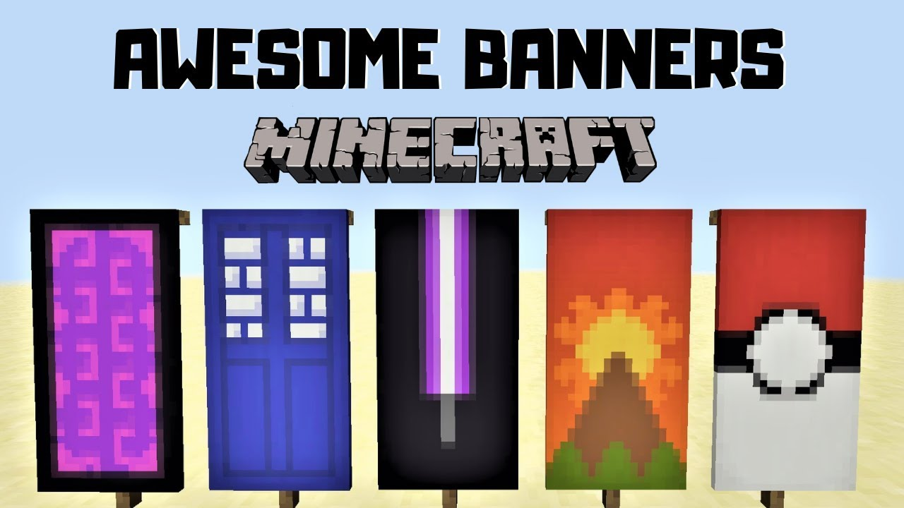 5 Awesome Minecraft Banner Designs With Tutorial Youtube