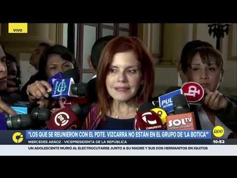Mercedes Aráoz: 'Un grupo de Fuerza Popular busca soluciones y a otro le gusta atacar'