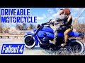 Fallout 4 - DRIVEABLE MOTORCYLE!!! - Full Showcase w/ Paints - Mod by Hunk92