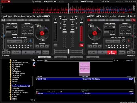 drop draws riddim mix on virtual dj various reggae artist lil vicious , shaggy , t.o.k. , shurwayne winchester , mr vegas , sean paul , mr. evil elephant man dj mayday mix