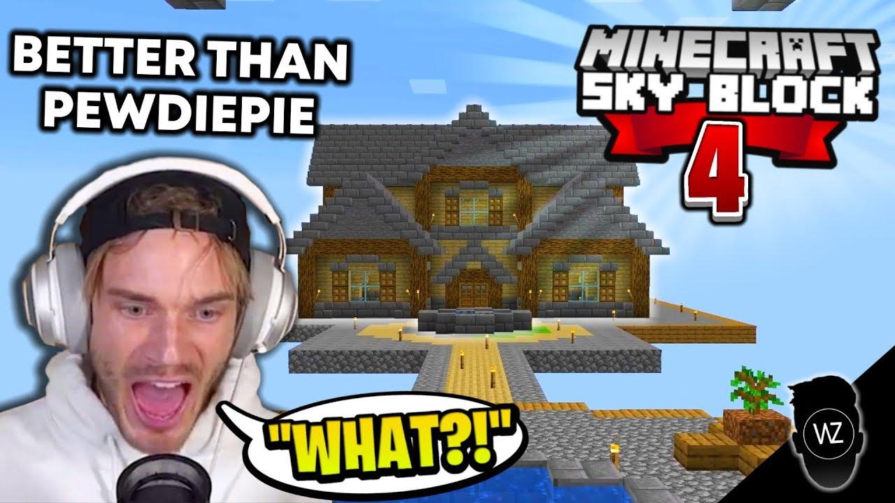 The Best House On Skyblock Ever Minecraft Skyblock 4 Youtube