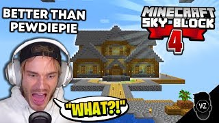 The BEST House on Skyblock EVER (Minecraft Skyblock #4)