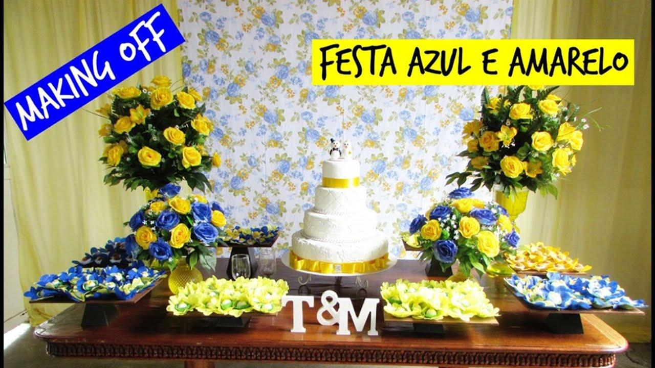 decoracao casamento rustico azul e amarelo:Festa Azul E Amarelo