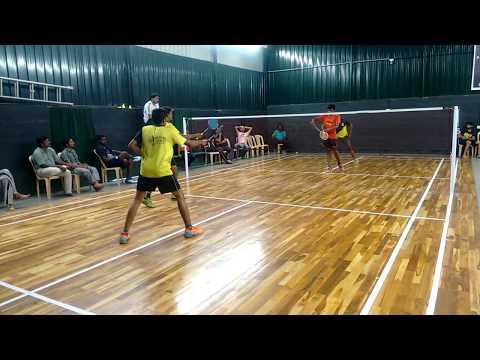 ASIK VEERAPANDY vs KUPPURAJ KARTHI in open state badminton tournament FINALS- COIMBATORE