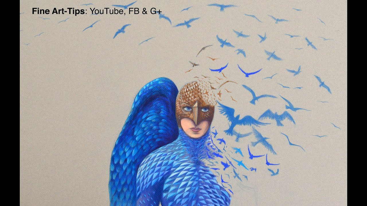How To Draw Birdman With Color Pencils Fine Art Tips