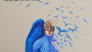 How to Draw Birdman With Color Pencils - Fine Art-Tips