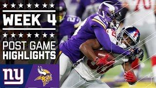Giants vs. Vikings   NFL Week 4 Game Highlights
