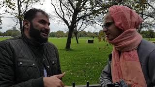 How Do we know God! Adnan Rachid Vs Hare Krishna Rama Speaker's corner Hyde park
