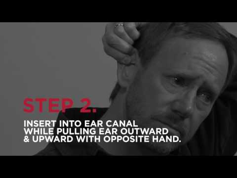 How to use foam ear plugs.