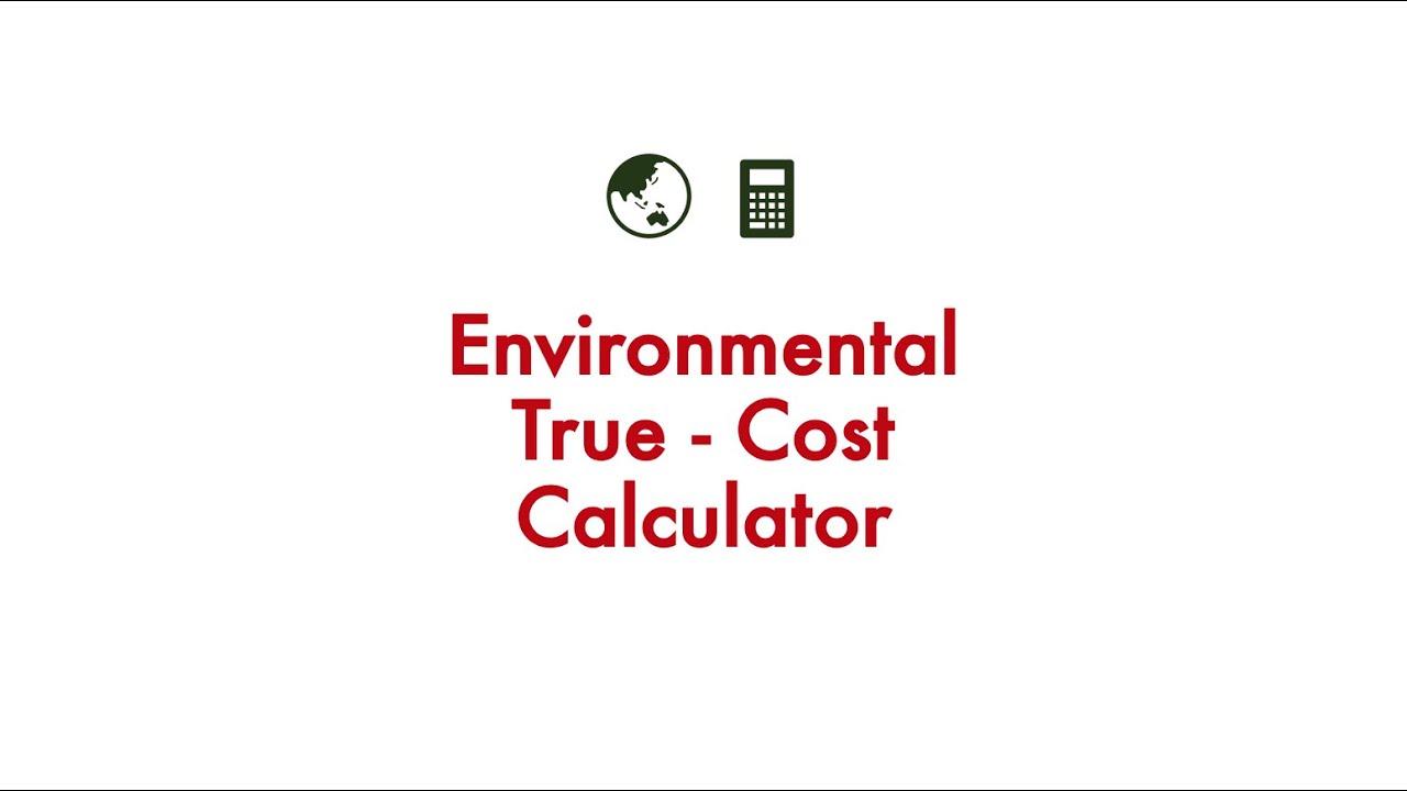 Environmental True Cost Calculator