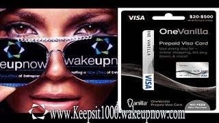 WAKE UP NOW - ONE VANILLA VISA (SIGN UP) TUTORIAL @KEEPSIT1000