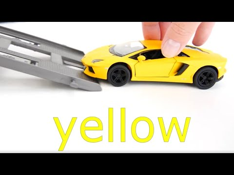 learning-colors-with-cars.-toy-cars-call-in-the-transporter-truck.