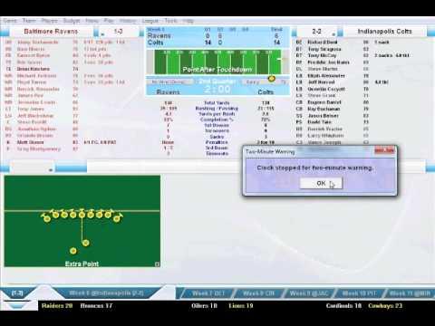 Football Mogul 2012 1996 Season: Ravens vs Colts