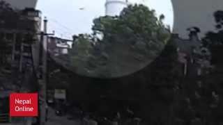 Dharahara Falling Live Nepal Earthquake 2072/2015