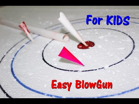 How To Make A Blowgun from PAPER || Simple Project