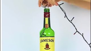 Manualidades Navideñas con Botellas de Vidrio😍/Best Out Waste♻️