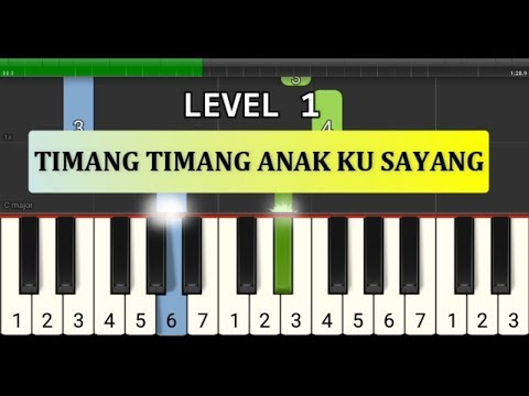 Not Piano Timang Timang Anak Ku Sayang - Tutorial Level 1 - Not Pianika Lagu Daerah