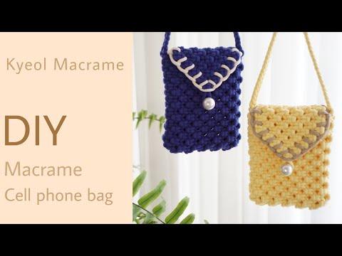 [kyeol macrame] 결마크라메 DIY 휴대폰가방 만들기 /마크라메 미니백 /macrame cell phone bag