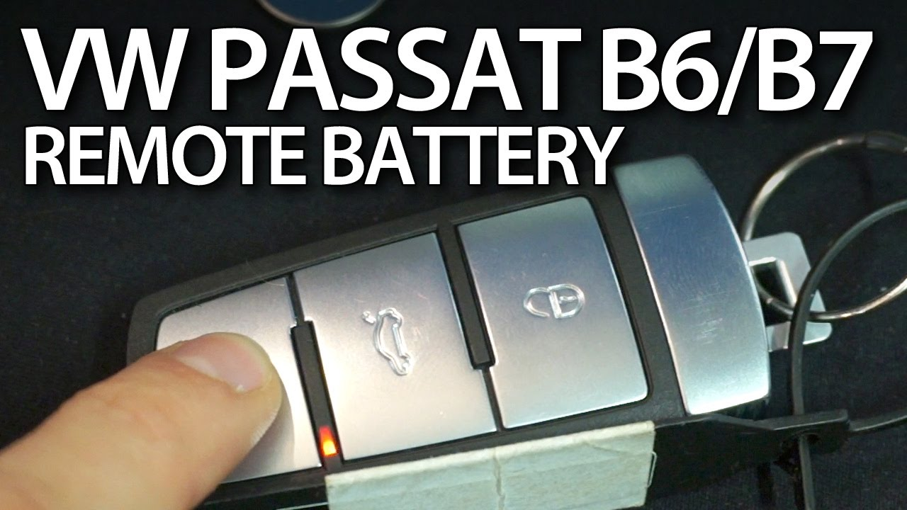 Car Key Programming >> Volkswagen Passat B6 B7 CC changing key fob remote battery ...