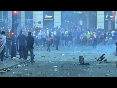 شغب في باريس وإخلاء شوارع خلال احتفالات فوز فرنسا بكأس العالم…
