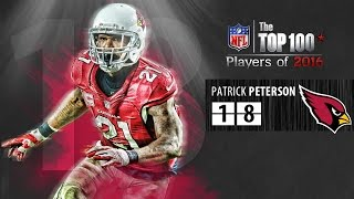 Patrick peterson, cb for the arizona cardinals. he lands #18 on our list of top 100 nfl players 2016! subscribe to nfl: http://j.mp/1l0bvbutop pla...
