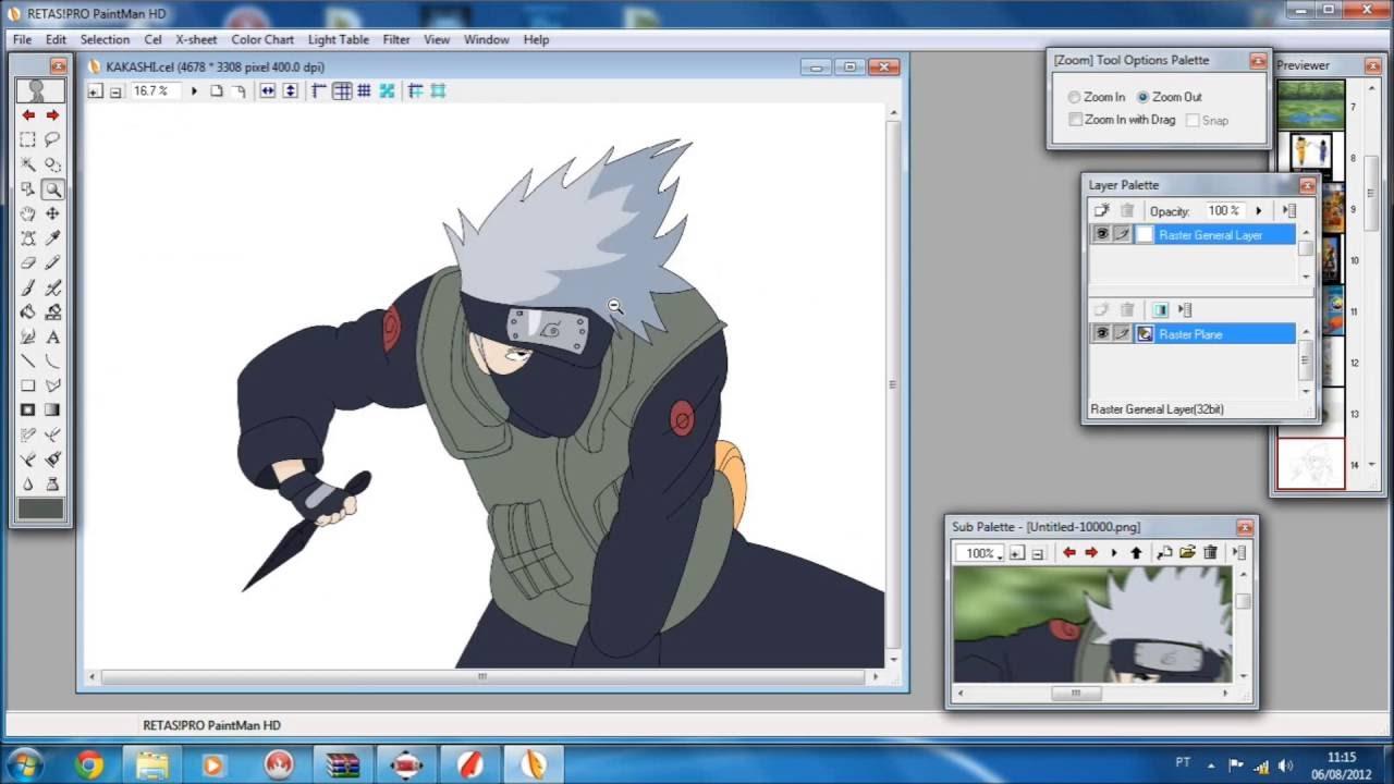 Kakashi Retas Pro Teste Hd Test Paintman Youtube
