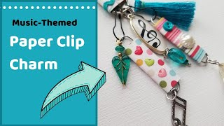 Paper Clip Charm: Music Themed