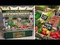 DIY Miniature Greengrocer's Shop, Paris ミニチュアパリの八百屋さん作り