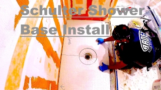 How to install Schluter shower Tray and curb. (100% waterproof and vapor tight)