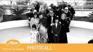Photocall MANBIKI KAZOKU de Kore-Eda Hirokazu avec Franky Lily, And...