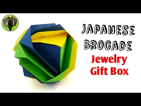 Japanese Brocade | Cube Jewelry Gift Box - DIY Origami Tutorial by Paper Folds ❤️