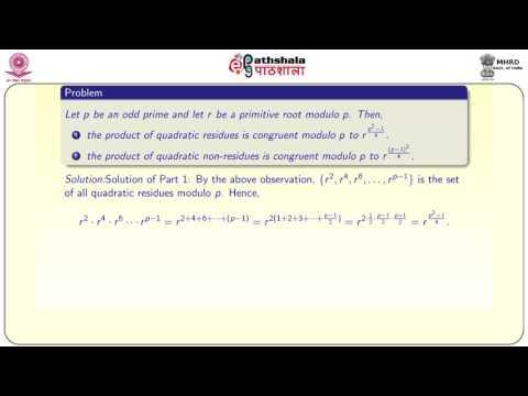 Quadratic residues/non-residues (MATH)
