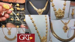 GRT Light Weight Fancy Gold Necklace Gold Rings Turkey Designs From 1gm to 5gm| GRT Gold Jewellery