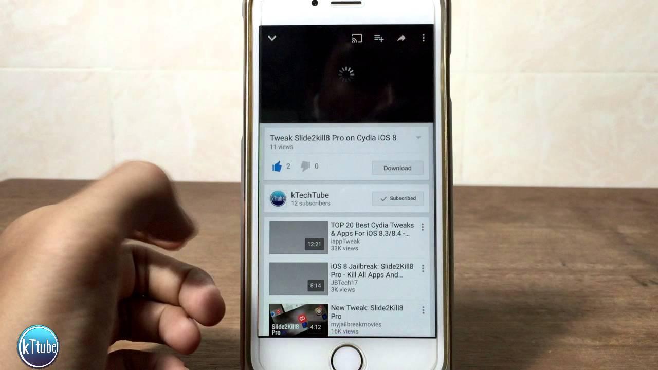 Tweak Youtube++ for iOS 8 Cydia Jailbroken