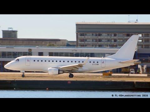 Eastern Airways Embraer ERJ-170 Landing & Takeoff at London-City
