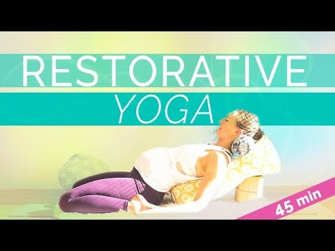 Calming Restorative Yoga Sequence | Relax & Nourish your Senses (45-min) All Levels