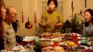 Korean Dinner On New Year's Day 2008.
