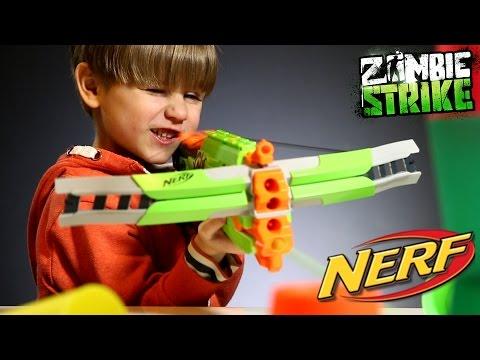 Fun With NERF Crossfire Bow - Zombie Strike Gun