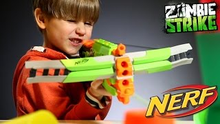 Fun with NERF Crossfire Bow - Zombie Strike Gun​​​