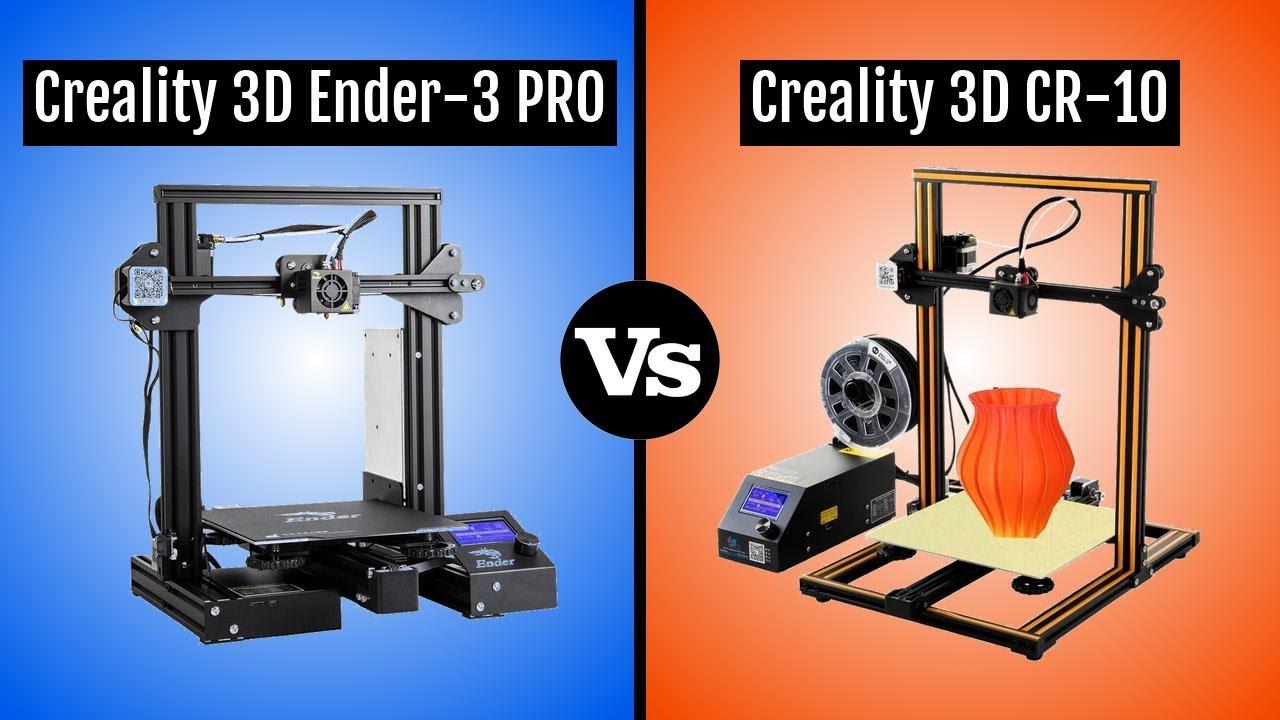 Creality 3D Ender 3 PRO vs Creality 3D CR-10
