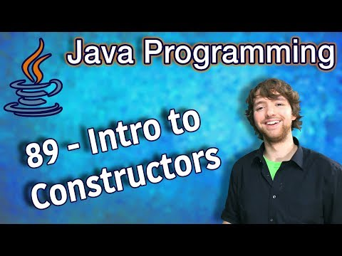 Java Programming Tutorial 89 - Intro to Constructors thumbnail