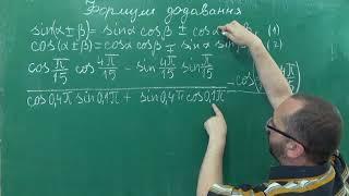 Тема 6 Урок 1 Формули додавання - Алгебра 10 клас