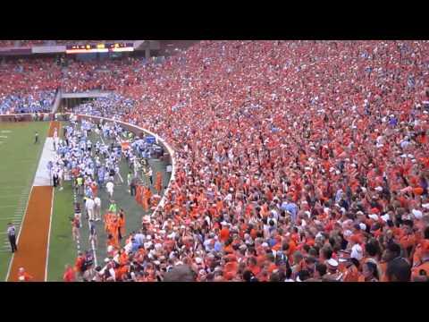 Clemson Tiger fans rocking Zombie Nation