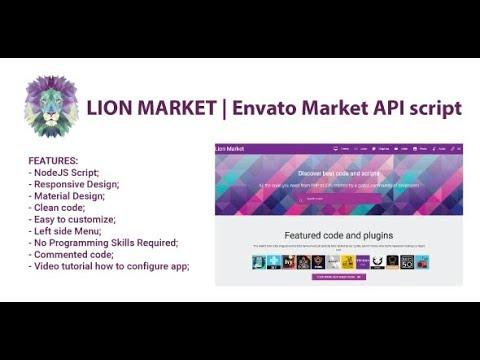 Lion Market | Envato Market API Script