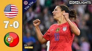 USA vs Portugal 7-0 Goals & Extended Highlights | 2 Games 2019