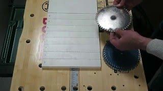 Тест пильных дисков 160-165 мм. ЛДСП.  Некоторые выводы.