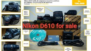 For sale  Nikon D610 with 24-1…